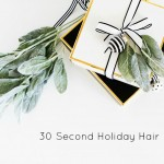 30 Second Holiday Hair