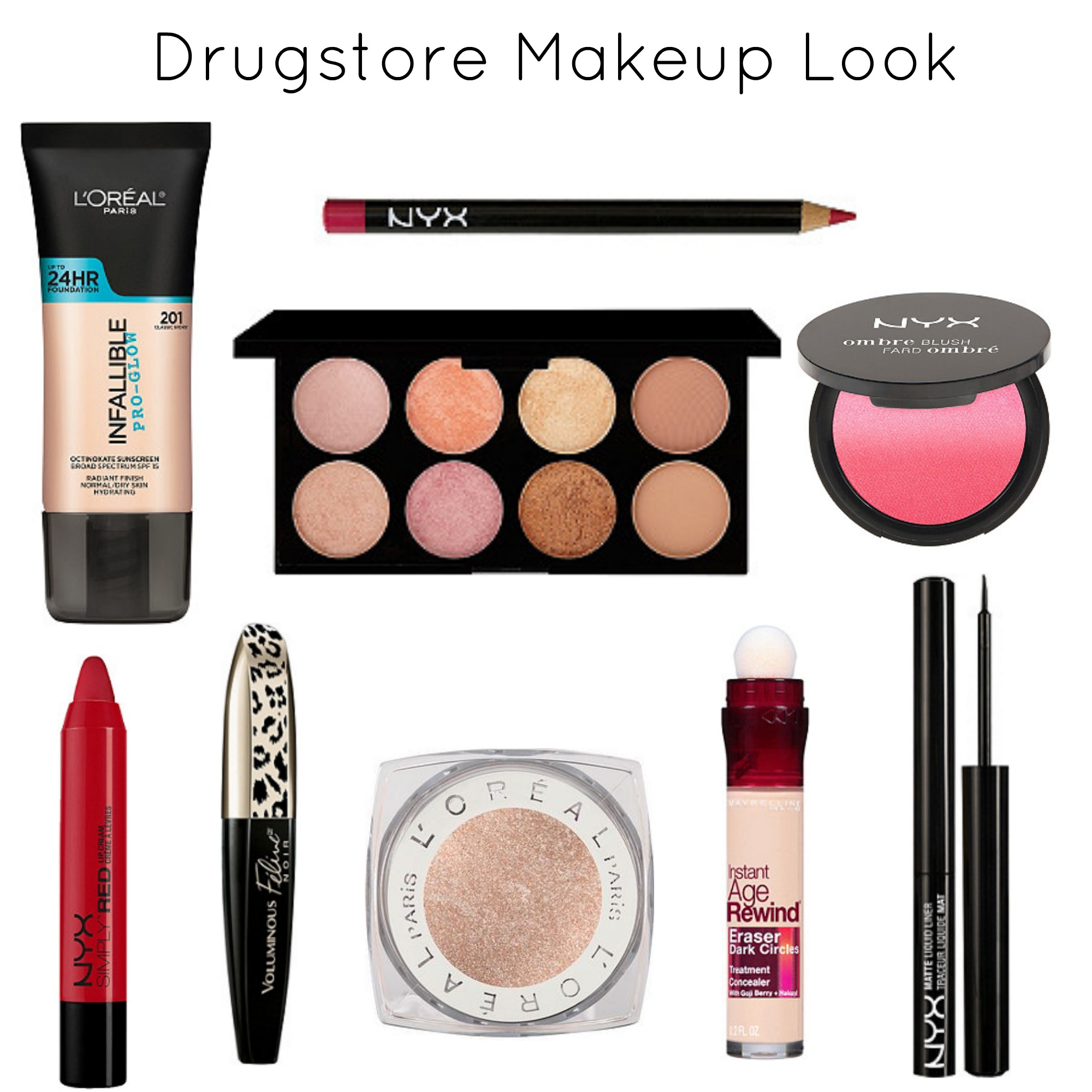 Drugstore Makeup Look