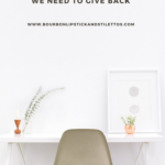 On Greed and Giving Back