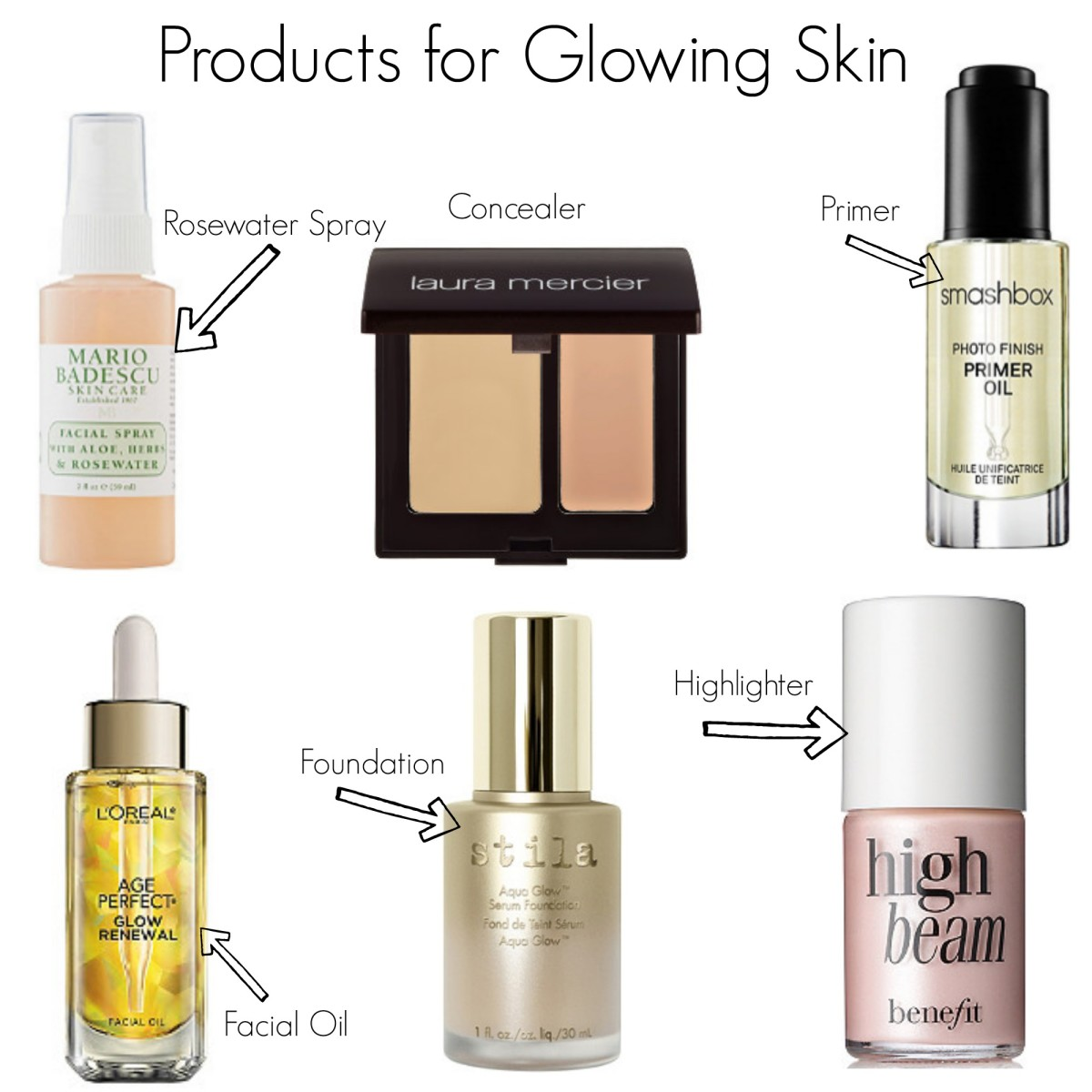 Products for Glowing Skin - Bourbon, Lipstick, and Stilettos